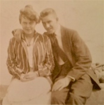 Herbert Lovell and his wife, Alice M. Wolff, circa 1920