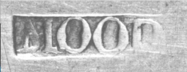 Silversmith Peter Mood, Jr.'s mark.
