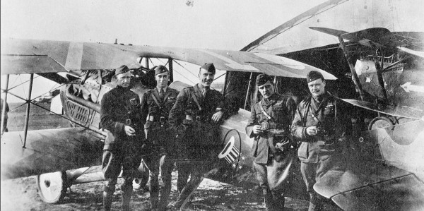 Pilots from the 94th in France, 1918.