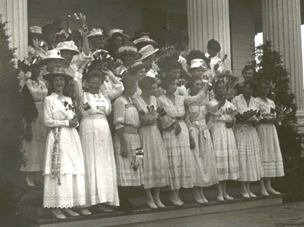 The identification of this group of women is unclear; they may have been nurses.