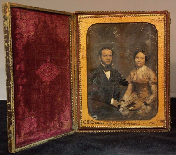 Another view of the daguerreotype.