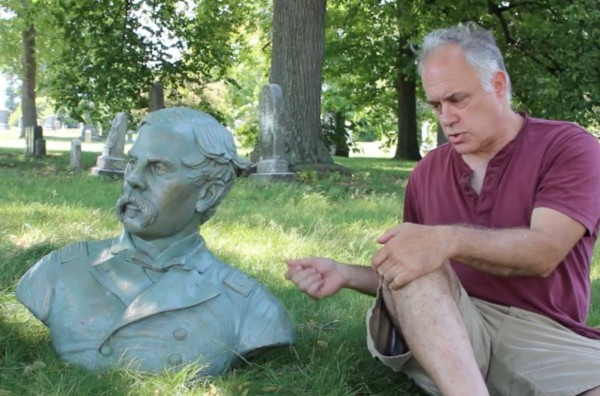 The bronze bust of Thomas Francis Meagher, and it brilliant sculptor, Michael Keropian, talking about his work.