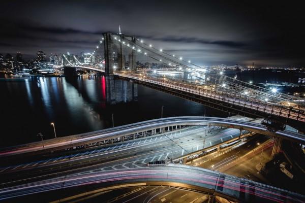 The Brooklyn Bridge--and its ramps.