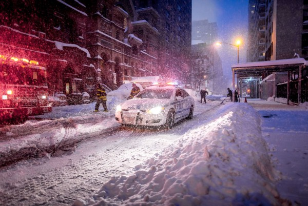 Here Christopher took a snow scene in New York City--a subject captured by thousands in a pedestrian way--and made it something special.