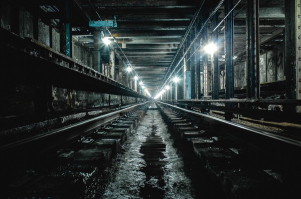 Another subject that caught Christopher's fancy--abandoned subway stations.