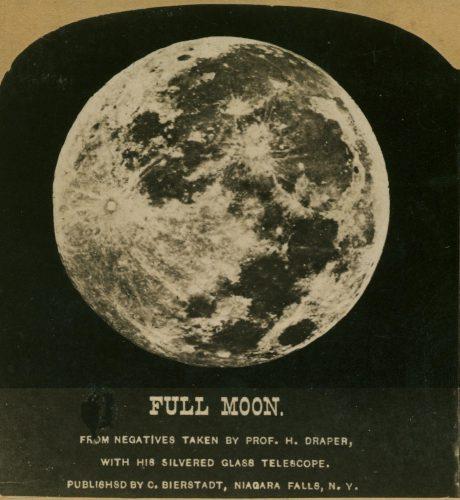 full moon old photo