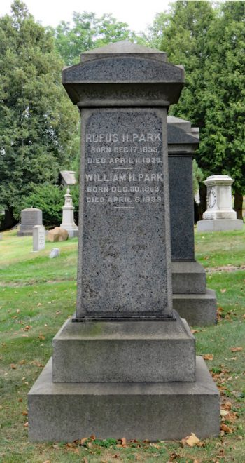 william park gravestone