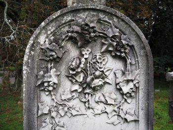 flowers gravestone