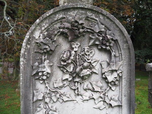 grave floral symbols
