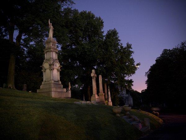 graves at night