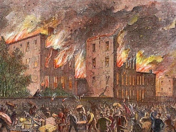 draft riots painting