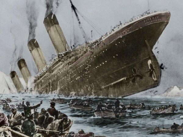 titanic sinking painting